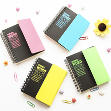 New Creative Fluorescent colors School Student English words language learning memory Manual Notebook with shielding plate 706