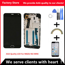 Q&Y QYJOY AAA Quality LCD +Frame For MEIZU M2 Mini Lcd Display Screen Replacement For MEIZU M2 MINI Digiziter Aseembly(China)