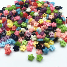 1000pcs Mixed 6mm Mini Tiny Buttons Plastic Star Shape Sewing Doll Clothes 2 Holes Button Embellishments Scrapbooking Cardmaking