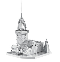 3d puzzle precision laser cutting metal Maiden Tower/ Maya Pyramid / Yueyang Tower/Big Wild Goose Pagoda model puzzle toys(China)
