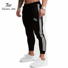 Seven Joe Men Joggers Brand Male Trousers Casual Pants Sweatpants Jogger Black Casual Elastic cotton GYMS Fitness Workout pants(China)