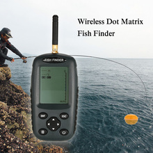 Lixada Wireless Portable Fish Finder 80m / 262 Feet Sonar Depth Waterproof Fishfinder Ocean River Lake color fishfinder(China)