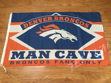 3X5FT Denver Broncos man cave flag Digital printing banner(China)