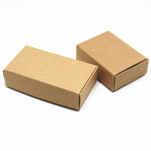 40Pcs/Lot Multi Sizes Small Gift Packaging Kraft Paper Box For Jewelry Party Wedding Candy Chocolate Bakery Baking Cake DIY Soap