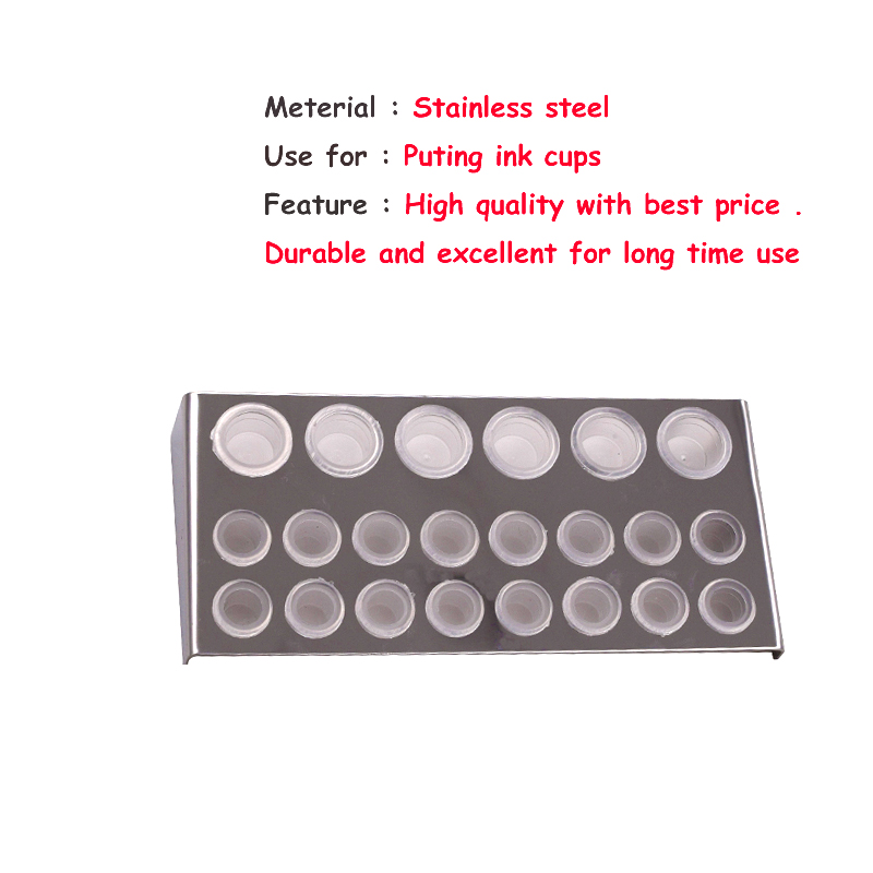 22 Holes Pigment Container Stand Tattoo Accessories Supplies Stainless Steel Tattoo Permanent Makeup Ink Cup Holder Stand Holes 9