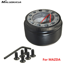 MALUOKASA Car Steering Wheel Hub Adapter Kit Hex Wrench for Mazda Bongo 323 323f mx3 mx5 rx7 mk1 mk2 Momo Auto Accessories Black