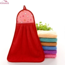 New qualified Hand Bathing Towels Soft Plush Hanging Wipe Bathing Towel(China)