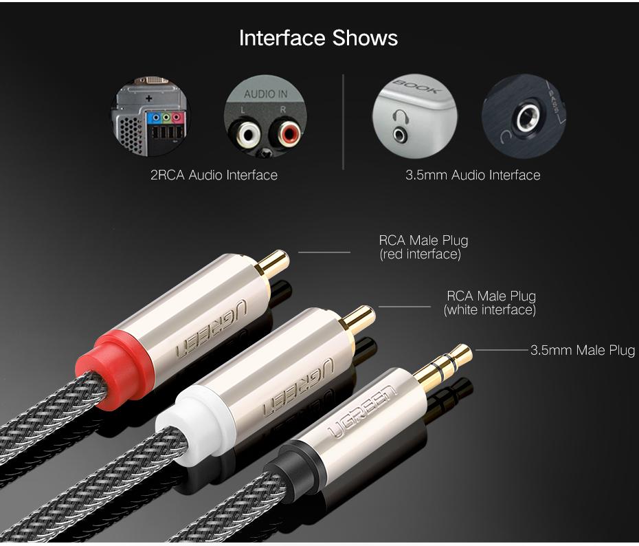 Audiokaabel vasest või tsingisulamist