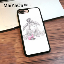 MaiYaCa Eeyore Winnie The Poohs Sketch Phone Case For iPhone 7 Plus Full Protective Back Cover Shell For iPhone 7 Plus Case