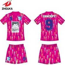 2016 latest football jerseys hot designs Full Sublimation custom sports uniforms