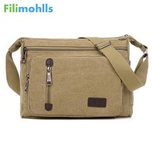Men Bags Vinatge Canvas Messenger Bags 2017 Designer Brand Men's Fashion Crossbody Shoulder Bag Male Casual Travel Bag S951(China)