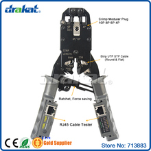 Network  RJ45 Cable Tester Crimper 10P/8P/6P/4P