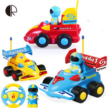 2017 rc car Cartoon Design Mini Radio Control Car For Baby Musical Electric rc toys Radio Control Model toy cars HT2147