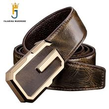 Buy FAJARINA Mens Fashion Cowhide Belts Male Genuine Leather Letter Slide Buckle Belts Men Belt Strap Luxury Brand LUFJ537 for $24.96 in AliExpress store