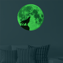 Moonlight Wolf Luminous Wall Stickers Home Decor Bedroom DIY Art Mural Fluorescence Sticker Wall Pappers Decal GI601613