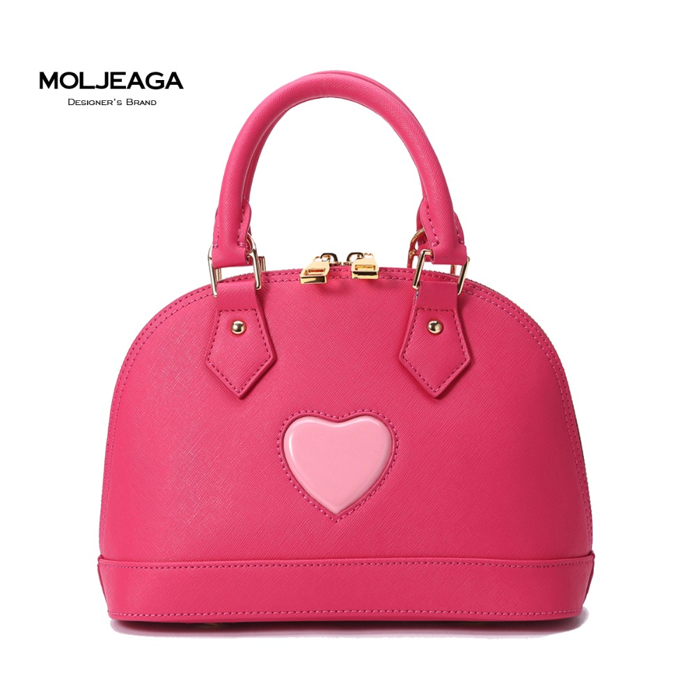MOLJEAGA cowhide shell mini Handbags packet more color simple fashion genuine leather bags women small bag Messenger bag<br>