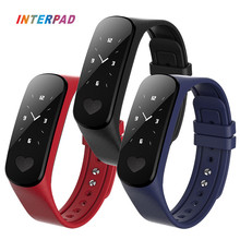 2017 Interpad Wearable Devices I9 Smart Wristband Fitness Tracker Smart Bracelet With ECG PPG Monitor Blood Heart Rate Monitor(China)