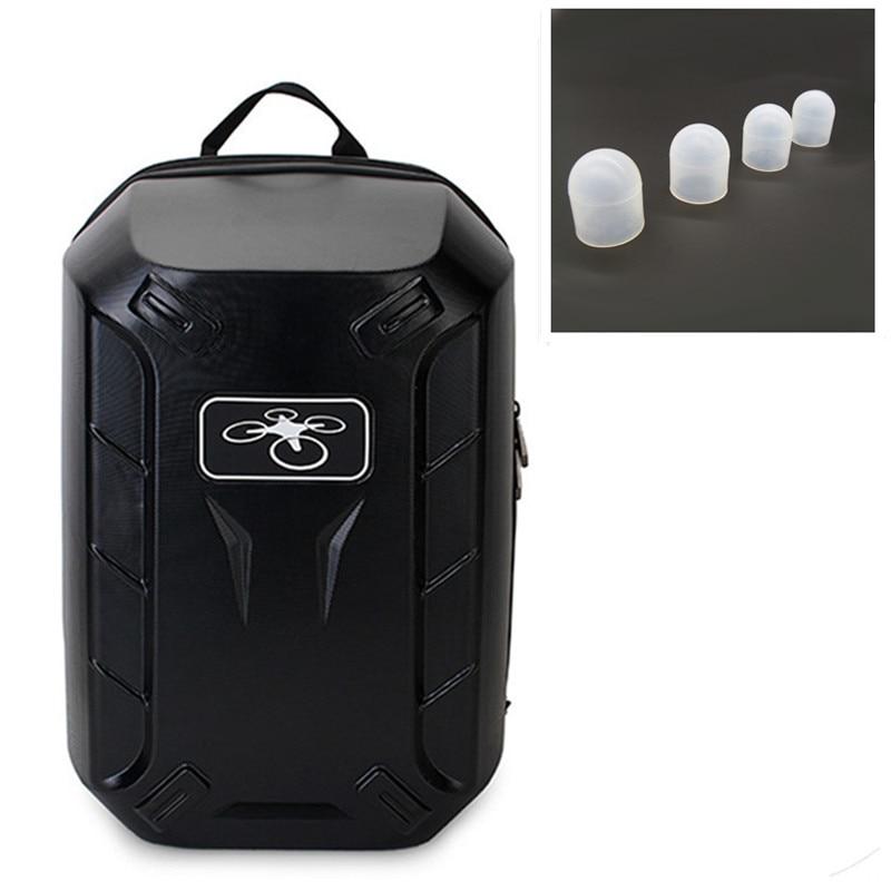 2016 phantom 3 Hardshell Bag Backpack Shoulder Carry Case Hard Shell Box + 4 pcs  DJI Phantom  Motor Guard Cap Protector Cove<br><br>Aliexpress