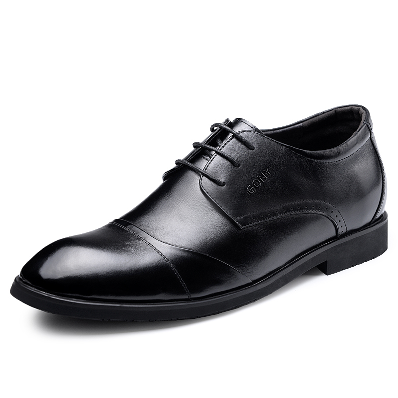 Elevated Shoes 2.36 Inches Taller Mens Height Increasing Elevator Calf Leather  Derby Shoes Formal Business Wedding Shoes<br><br>Aliexpress
