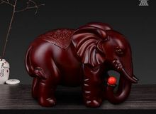 large 17x9x12cm resin elephant arts craft,Office furnishings home desk decoration business gift a2426(China)