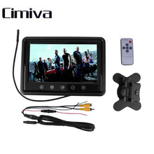 Cimiva 9 inch Touchscreen LCD Car Monitor Computer HD Digital TFT Color Monitors AV Support as Computer Screen 12V