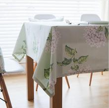 100% Cotton Tablecloths For Rectangular Tables Floral Printed Table Cover Cotton Table Cloth Waterproof For Home