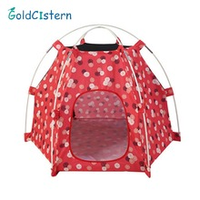 Foldable Dogs Cats Tent House Pets Home Dirt-resistant Outdoor Camping Travel Pet House Hexagonal Breathable Pet Tent