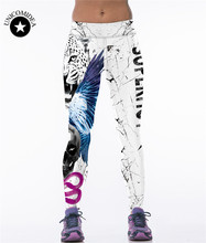 Sexy Legging Women Workout Classic European Americia Style 3D Print Animal Tiger Lion Leopard Pants Fitness Stretch Trouser Hot