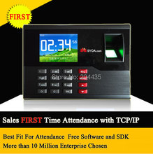 5YOA Biometric Fingerprint Time Attendance TCP IP TFT Energy-Saving Recorder Clock System Recording RFID Card Free Shipping