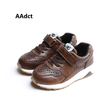 AAdct 2017 New High-quality real leather children shoes running sports kids shoes boys Brand breathing boys shoes sneakers