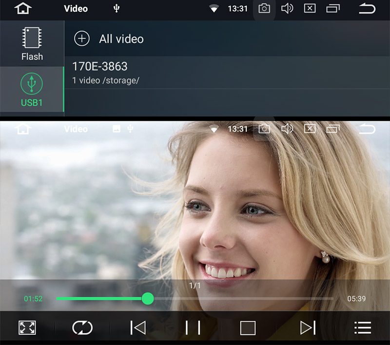 4k video on android car radio