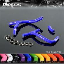 Silicone Radiator Coolant Hose Kit For HONDA CRF 450 CRF450R 09-12 10 11 Blue(China)