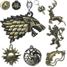 Game of Thrones Keychain Song of Ice and Fire Signs Key Chain House Stark Arryn Tully Greyjoy Martell Targaryen Model Toys