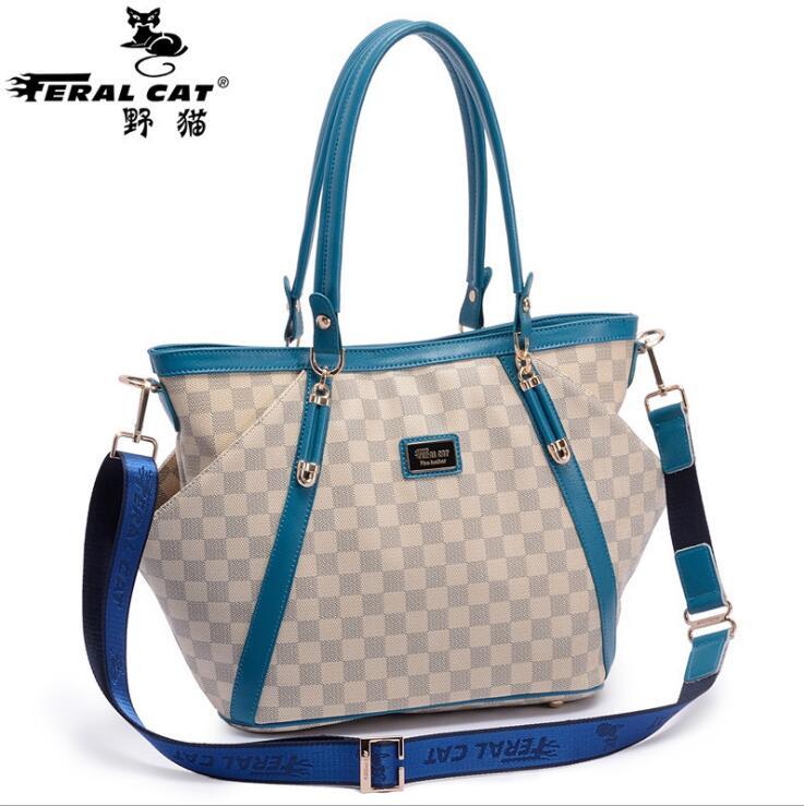FERAL CAT Brands Women Shoulder Bags Fashion PU Leather Bags Famous Brands Women Casual Handy Bags Ladies Handbag New FC-6002<br><br>Aliexpress