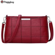 Buy Fashionable Women Handbag PU Leather Plaid Messenger Bag Autumn Women Crossbody Shoulder Bags Brand Female Top Handle Handbag for $7.26 in AliExpress store