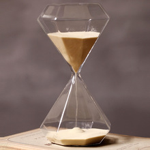 30 Minutes Timer Glass Golden Hourglass Creative Gift Glass Sand Timer Sandglass Golden Sand Home Decoration Sand Clock