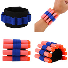New Toy Gun Wristband Nerf Dart Soft Bullets Holder Storage Pouch Tactical Cuff Bracer Outdoor Game Boys Gun Toys Accessories