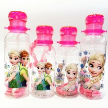 Princess Elsa Anna Toy Water Bottles children cartoon plastic Figure Toys For Girls Gifts Christmas Gift for kids 400/550ML