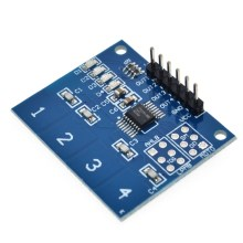 NEW 4Channel Digital Touch Sensor Capacitive Switch Module Button For  TTP224