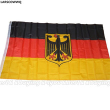 LARSCOWWQ German Flag 90x150cm Germany Eagle Deutschland Soccer World Cup Champion Banner Free Shipping (90908047)
