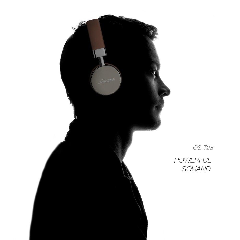Wireless headphone Orinsong Bluetooth 4.1 sport headphone fashionable earphone portable headset on-ear fone de ouvido for music
