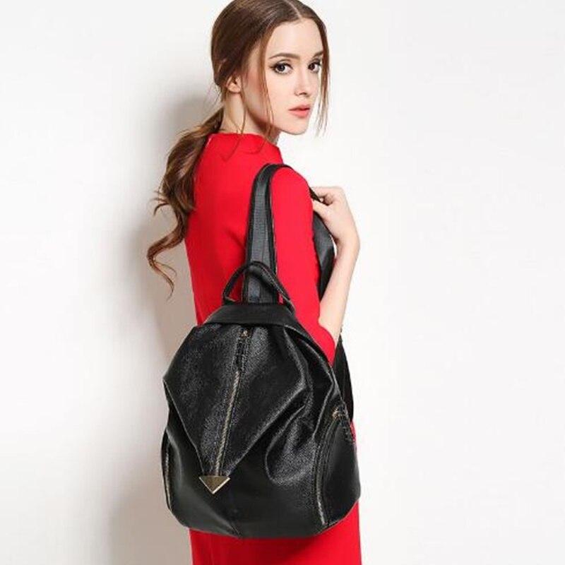 Mochila Feminine Backpack For Teenage Girls School Bags Fashion Genuine Leather Backpack Youth Women Backpacks Sac a Dos Bolsos<br>