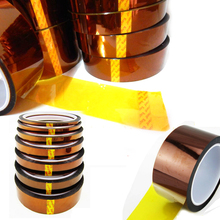 6mm*33m*0.06mm Heat Resistant High Temperature Polyimide Adhesive Tape mobile phone stickers battery sticker for iphone samsung(China)