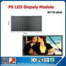 TEEHO full color indoor p6 led module for video wall led display 384*192mm 1/16 scan p6 led panel LED display module videotron(China)