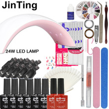 Nail set choose 6 colors nail polish Soak-off Gel polish Top & Base Coat gel with 24w or 36w UV LED lamp manicure nail art tool(China)