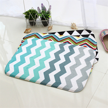 Honlaker Fashion Geometric Pattern Bath Mats Rugs Non Slip Mat for Entrance Door(China)