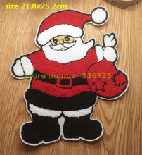 Towel fabric patch sew on 10 pcs Father Christmas patch Motif Applique garment embroidery patch DIY accessory CPAM Shipping
