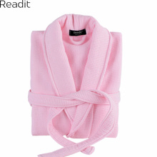Readit Winter Bathrobe Pajamas Women Warm Bathrobes Sleep Comfortable Dressing Gown Women's Robes Nightgown Pink Robe PA2603(China)