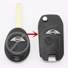 1pcs/lot Modified Folding Key Shell Remote Key Case Fob 2 Button for BMW Mini Cooper 2002-05