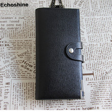 2016 Very Stylish and Super good quality Men Leather Bifold Card Checkbook Holder Long Wallet Organizer Purse gift wholesale